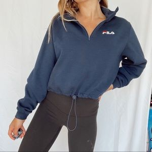 fila cropped pull over